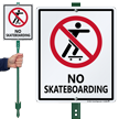 No Skateboarding Sign & Stand Kit