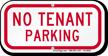 No Tenant Parking Supplemental Parking Sign