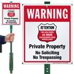No Trespassing 24 Hour Surveillance LawnBoss Sign