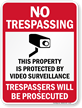 No Trespassing Sign onmouseover =