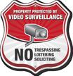 No Trespassing Loitering Soliciting Shield Sign