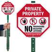 No Trespassing Soliciting Loitering LawnBoss Sign