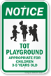 Notice Tot Playground Sign