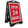 Open 24 Hours Portable A-Frame Sidewalk Sign Kit