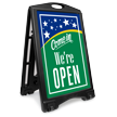 Come In We Are Open Sidewalk Sign Kit
