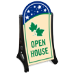 Open House Standard Portable Sidewalk Sign Kit