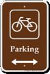 Parking Bike Bicycle Bidirectional Sign