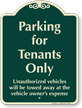Parking For Tenants Only Signature Sign