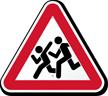 Children Crossing Pedestrian Road Traffic Warning Sign