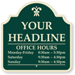 Customizable Business Hours Palladio Sign with Motif