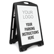Personalized Parking Instructions Sign Insert with Logo
