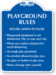 Playground Rules Hours Dawn To Dusk SignatureSign