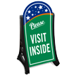 Please Visit Inside Portable Sidewalk Sign Kit