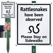 Rattlesnakes Have Been Observed Lawnboss Sign Kit