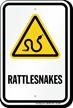 Rattlesnakes Warning Sign