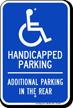 Reserved For Handicapped Parking Sign