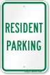 Resident Parking Sign