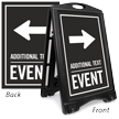 Right Arrow Event Parking Sidewalk Sign