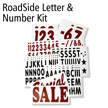 Letter And Number Kit For Roadside White Message Boards