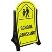 School Crossing Sidewalk Sign Kit