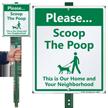 Dog Poop Lawnboss Sign