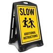 Slow Add Additional Instructions Custom Sidewalk Sign