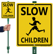 Slow Children Sign for Lawn