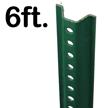 Standard U-Channel Sign Post - 6' tall