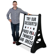 Quick-Load A-Frame Sidewalk Sign - White Standard