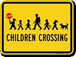 Children Crossing with Hand Held Stop Sign