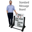 BigBoss Standard Swinger Changing Message Sidewalk Sign and Letter Kit
