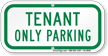 Tenant Only Parking Supplemental Parking Sign
