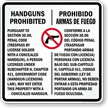 Section 30.6 Texas Law - Concealed Handguns Prohibited Sign