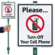 Turn Off Your Cell Phone with Graphic Sign