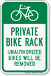 Unauthorized Bikes Will Be Removed Sign