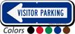 Visitor Parking Left Arrow Directional Sign