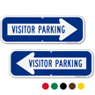 Visitor Parking Right Arrow Directional Sign
