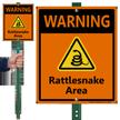 Warning Rattlesnake Area LawnBoss Sign