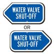 Water Valve Shut-Off Sign