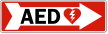 AED Right Arrow Label