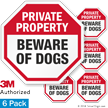 Beware Of Dogs Private Property Label Set