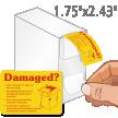 Damaged Or Open On Delivery Labels Dispenser