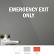 Emergency Exit Only Die Cut Glass Window Decal