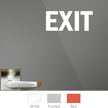 Exit Vinyl Die Cut Glass Window Decal