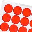 Fluorescent Orange Reflective Stickers