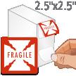 Fragile Shipping Labels in Dispenser Box
