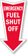 Fuel Shut Off Arrow Safety Label