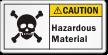 Hazardous Material ANSI Caution Label