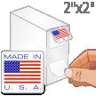 Made In USA Flag Label Dispenser Box