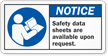 Material Safety Data Sheets Available Upon Request Label